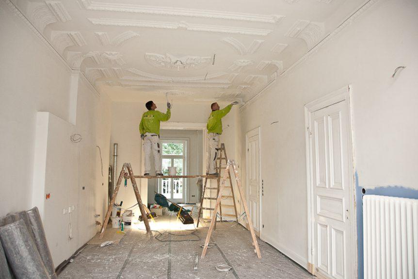4 woche renovierung einer stadtvilla malermeister andree antosch. Black Bedroom Furniture Sets. Home Design Ideas
